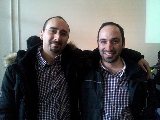 مؤسسي شركة إنفرايمز الأخوين بهنسي. من اليمين كنان, و من اليسار همام
