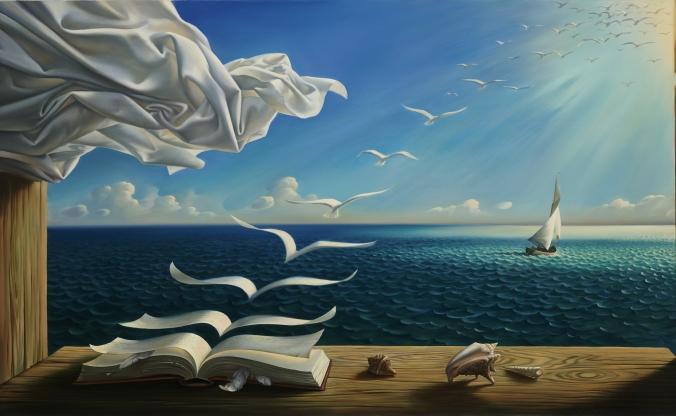 لوحة سرياليّة للرسام المعاصر فلاديمير كوش