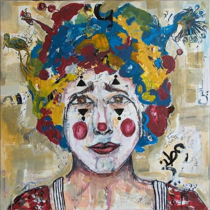 """اللوحة التي مثّلت القصّة وراء فيلم """"السبيل"""" - نور ظنطح -  95 x 95 cm"""