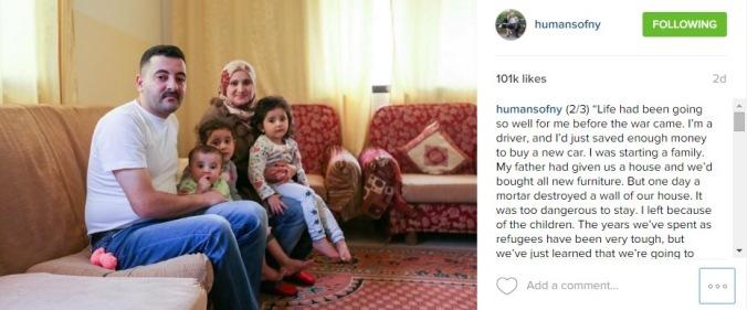 Humansofnewyork لاجئين سوريين